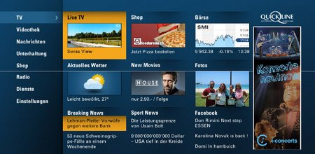 Verte TV Home Screen Benützung